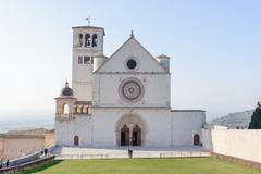 ASSISI, ITALY - JANUARY 23, 2010: Basilica of San Francesco d'Assisi - stock photo