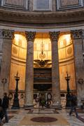 ROME, ITALY - JANUARY 27, 2010: Inner view of Pantheon Stock Photos