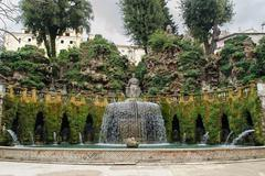 TIVOLI, ITALY - JANUARY 28, 2010: Fontana dell'Ovato - stock photo