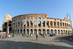 ROME, ITALY - JANUARY 21, 2010: Whole view of Colosseum Stock Photos