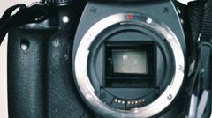 DSLR Camera Mirror Shutter Mechanism 6 - stock footage