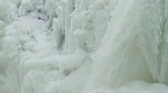 A winter waterfall in the swedish mountains Stock Footage