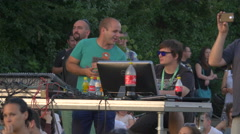 The tech team from River Fest, Cluj-Napoca Stock Footage