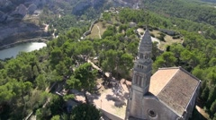 Notre-Dame de Beauregard church, Orgon, Bouches-du-Rhone, Provence, France by Stock Footage