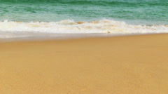 Man Going On The Tropical beach Stock Footage