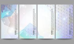 Set of modern vector flyers. Abstract multicolored background. Scientific Stock Illustration
