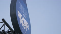 The River Fest sign in Cluj-Napoca Stock Footage