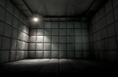 Padded Cell Dirty Spotlight Stock Illustration