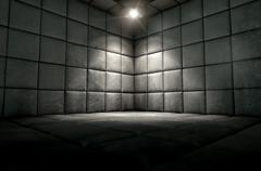 Padded Cell Dirty Spotlight - stock illustration