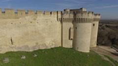 Fort-Saint-Andre at Villeneuve-Lez-Avignon, Avignon, France – aerial view by Stock Footage