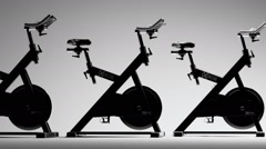Fitness Bicycle In Gym Stock Footage