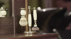 Close-up of Barber's Accessories Stock Footage