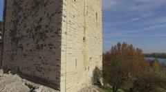 Tour Philippe-Le-Bel tower, Villeneuve-Lez-Avignon, Avignon, aerial view by Stock Footage