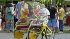 Rickshaw in Central Park, Cluj-Napoca Stock Footage