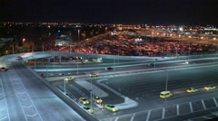 Vehicles arriving / departing at International airport (Timelapse) Stock Footage
