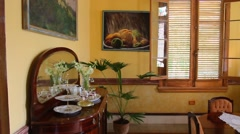 Interior of South House - stock footage