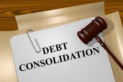 Debt Consolidation concept Stock Illustration