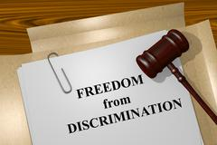 Freedom From Discrimination concept Stock Illustration