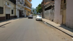 Driving Vintage car in Havana, Cuba Stock Footage