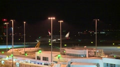 Airport at night (Timelapse) Stock Footage