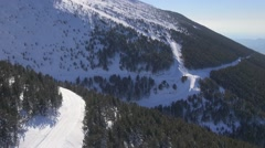 Mont-Ventoux and ski resort of Mont-Serein in the snow in winter, Vaucluse, - stock footage