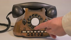 Retro Old Vintage Telephone calling a number 4K Ultra HD Stock Footage