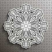Paper lace doily Stock Illustration
