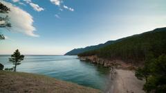 Timelape of Lake Baikal,Siberia Stock Footage