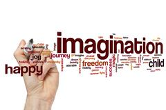 Imagination word cloud concept - stock illustration