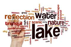 Stock Illustration of Lake word cloud concept