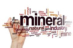 Mineral word cloud concept - stock illustration
