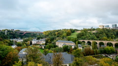 Time Lapse of Luxembourg City Countryside -  Europe Stock Footage