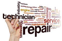 Repair word cloud concept Stock Illustration