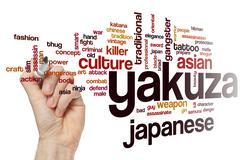 Yakuza word cloud concept Stock Illustration