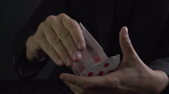Card Trick Stock Footage