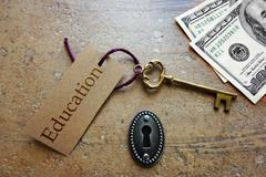 Education success - stock photo