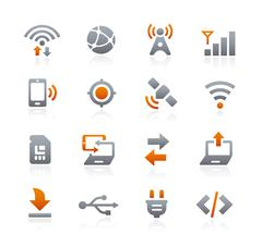 Web and Mobile Icons 6 -- Graphite Series Stock Illustration