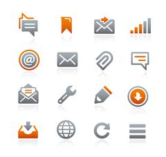 Web and Mobile Icons 9 -- Graphite Series Stock Illustration
