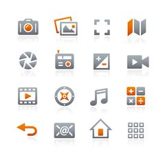 Web and Mobile Icons 5 -- Graphite Series - stock illustration