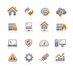 Web Developer Icons -- Graphite Series Stock Illustration