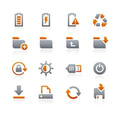 Web and Mobile Icons  -- Graphite Series - stock illustration