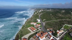 Azenhas Do Mar, Sintra, Portugal Stock Footage