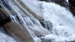 Detail of Waterfalls of Studeny potok in High Tatras mountains, Slovakia Stock Footage