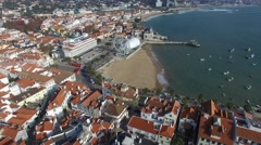 Aerial View of Cascais, Portugal Stock Footage