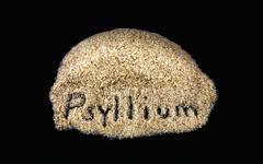 Word on daily dietary fiber supplement psyllium Stock Photos