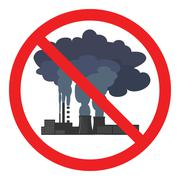 Stop air pollution sign. Vector illustration Stock Illustration