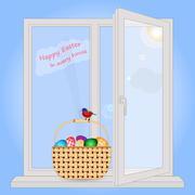 Easter in each house Stock Illustration