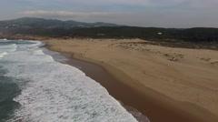 Aerial View of Praia do Guincho, Cascais, Portugal Stock Footage