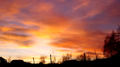 Sunset and beautiful colored sky Stock Footage
