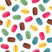 Seamless pattern with tasty donuts Stock Illustration